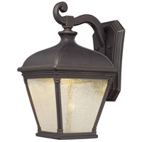 Lauriston Manor LED 19 inch Oil Rubbed Bronze/Gold Outdoor Wall Mount Lantern