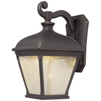 Minka-Lavery Lauriston Manor 1 Light Outdoor Lantern in Oil Rubbed Bronze And Gold Highlights 72397-143C