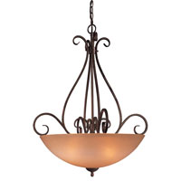 Minka-Lavery Caspian 4 Light Pendant in Golden Bronze 724-355