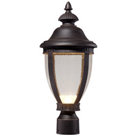 Wynterfield LED 19 inch Burnt Rust Outdoor Post Mount Lantern