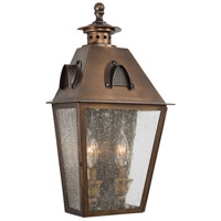 Minka-Lavery 72420-212 Edenshire 2 Light 16 inch English Brass Outdoor Pocket Lantern