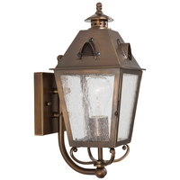 Minka-Lavery 72421-212 Edenshire 1 Light 14 inch English Brass Outdoor Wall Lantern
