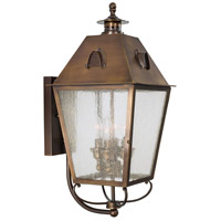 Edenshire 4 Light 22 inch English Brass Outdoor Wall Lantern