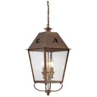 Erenshire 4 Light 12 inch English Brass Outdoor Chain Hung Lantern