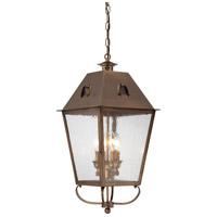 Minka-Lavery 72425-212 Erenshire 4 Light 12 inch English Brass Outdoor Chain Hung Lantern