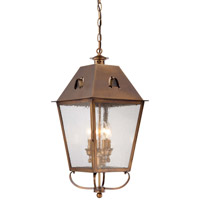 Minka-Lavery Edenshire 4 Light Outdoor Lantern in English Brass 72425-212