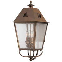 Erenshire 4 Light 26 inch English Brass Outdoor Wall Mount Lantern