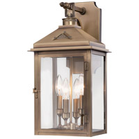 Eastbury 4 Light 22 inch Colonial Brass Outdoor Wall Mount Lantern