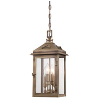 Eastbury 4 Light 8 inch Colonial Brass Outdoor Chain Hung Lantern