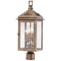 Eastbury 4 Light 22 inch Colonial Brass Outdoor Post Mount Lantern