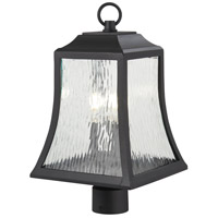 Cassidy Park 3 Light 19 inch Black Outdoor Post Mount