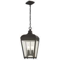 Minka-Lavery 72484-143C Marquee 4 Light 10 inch Oil Rubbed Bronze/Gold Outdoor Hanging Lantern The Great Outdoors