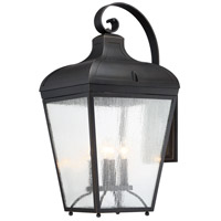 Minka-Lavery 72487-143C Marque 4 Light 29 inch Oil Rubbed Bronze with Gold Highlights Outdoor Wall Lantern The Great Outdoors