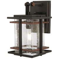 San Marcos 1 Light 11 inch Black with Antique Copper Outdoor Wall Mount