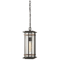 San Marcos 1 Light 7 inch Black with Antique Copper Outdoor Chain Hung Lantern