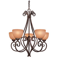 Minka-Lavery Caspian 5 Light Chandelier in Golden Bronze 725-355