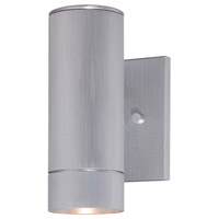 Minka-Lavery Skyline 1 Light Outdoor Lantern in Brushed Aluminum 72501-A144-L
