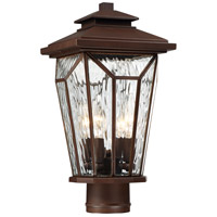Satomi 4 Light 16 inch Alder Bronze Outdoor Post Mount Lantern