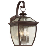 Sunnybrook 3 Light 17 inch Alder Bronze Outdoor Wall Lantern