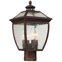 The Great Outdoors by Minka-Lavery Sunnybrook 4 Light Outdoor Post Lantern in Alder Bronze 72526-246