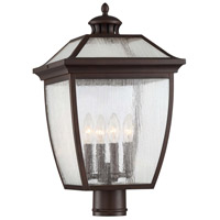Minka-Lavery 72527-246 Sunnybrook 4 Light 21 inch Alder Bronze Outdoor Post Mount Lantern The Great Outdoors