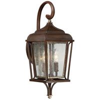 The Great Outdoors by Minka-Lavery Astrapia II 2 Light Outdoor Wall Lantern in Dark Rubbed Sienna W/ Aged Silver 72541-593