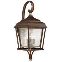 Astrapia II 4 Light 29 inch Dark Rubbed Sienna W/ Aged Silver Outdoor Wall Lantern