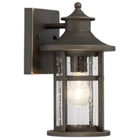 Highland Ridge 1 Light 12 inch Oil Rubbed Bronze with Gold Highlight Outdoor Wall Lantern