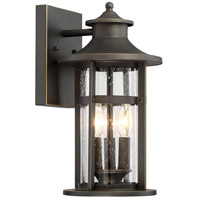 Minka-Lavery 72552-143C Highland Ridge 3 Light 15 inch Oil Rubbed Bronze with Gold Highlights Outdoor Wall Light The Great Outdoors
