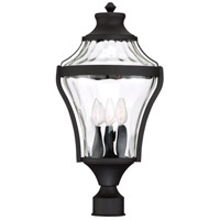 Libre 4 Light 22 inch Black Outdoor Post Lantern