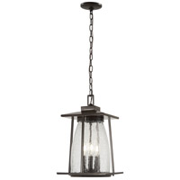 Minka-Lavery 72574-143C Marlboro 4 Light 11 inch Oil Rubbed Bronze/Gold Outdoor Hanging Lantern The Great Outdoors