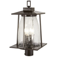 Minka-Lavery 72576-143C Marlboro 4 Light 21 inch Oil Rubbed Bronze/Gold Outdoor Post Mount Lantern The Great Outdoors