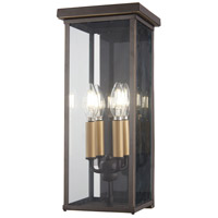 Minka-Lavery 72582-143C Casway 4 Light 17 inch Oil Rubbed Bronze with Gold Highlights Outdoor Pocket Lantern The Great Outdoors