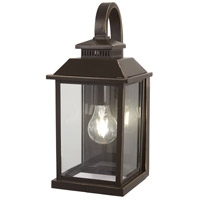 Minka-Lavery 72591-143C Miners Loft 1 Light 15 inch Oil Rubbed Bronze with Gold Highlights Outdoor Wall Light The Great Outdoors