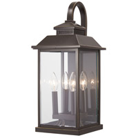 Minka-Lavery 72592-143C Miners Loft 4 Light 21 inch Oil Rubbed Bronze with Gold Highlights Outdoor Wall Light The Great Outdoors