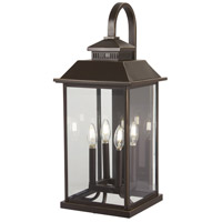 Minka-Lavery 72593-143C Miners Loft 4 Light 26 inch Oil Rubbed Bronze with Gold Highlights Outdoor Wall Light The Great Outdoors