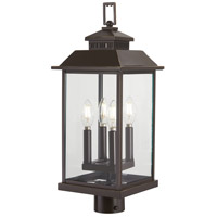 Miners Loft 4 Light 23 inch Oil Rubbed Bronze with Gold Outdoor Post Mount