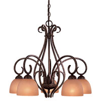 Minka-Lavery Caspian 5 Light Chandelier in Golden Bronze 726-355