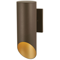 Pineview Slope 1 Light 13 inch Sand Bronze with Gold Outdoor Wall Mount