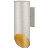 Pineview Slope 1 Light 13 inch Sand Silver with Gold Outdoor Wall Mount