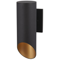 Pineview Slope 1 Light 13 inch Black with Gold Outdoor Wall Mount