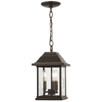 Minka-Lavery 72634-143C Mariners Pointe 3 Light 9 inch Oil Rubbed Bronze/Gold Outdoor Hanging Lantern The Great Outdoors
