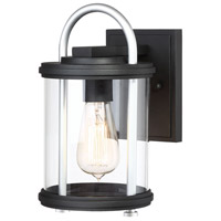 Minka-Lavery 72671-32 Keyser 1 Light 11 inch Black with Silver Accents Outdoor Wall Light The Great Outdoors