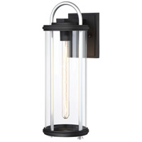 Keyser 1 Light 18 inch Black with Silver Outdoor Wall Mount