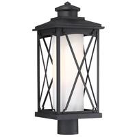 Minka-Lavery 72686-66 Lansdale 1 Light 21 inch Black Outdoor Post Lantern