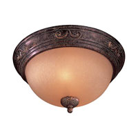 Minka-Lavery Caspian 2 Light Flushmount in Golden Bronze 727-355
