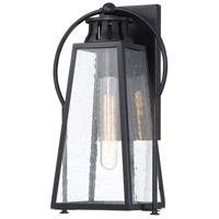Minka-Lavery 72703-66A Halder Bridge 1 Light 17 inch Matte Black Outdoor Wall Lantern