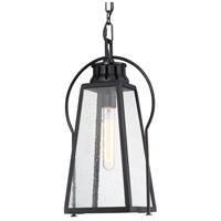 Minka-Lavery 72704-66A Halder Bridge 1 Light 10 inch Matte Black Outdoor Hanging Lantern The Great Outdoors
