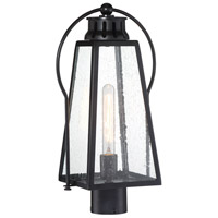 Minka-Lavery 72706-66A Halder Bridge 1 Light 19 inch Matte Black Outdoor Post Mount Lantern The Great Outdoors