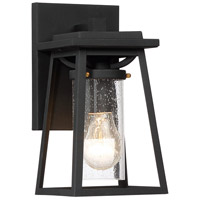 Minka-Lavery 72711-66G Lanister Court 1 Light 11 inch Black/Gold Outdoor Wall Lantern The Great Outdoors